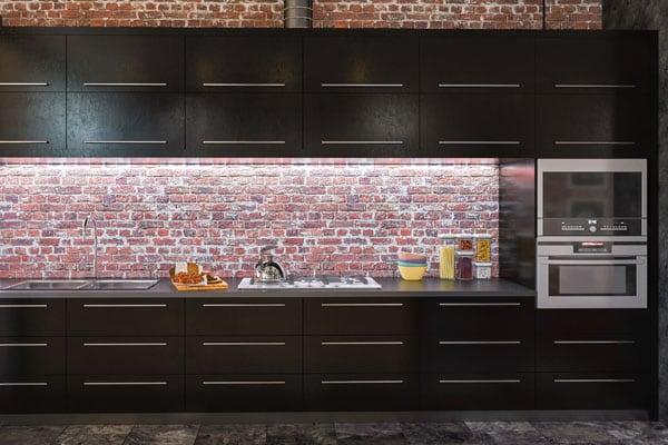 Bricks in Kitchen